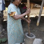 Mashing rice